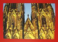 """Postkarte """"Kölner Dom, mitte"""""""