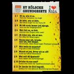 "Kühlschrankmagnet: Et Kölsche Grundgesetz ""Kölschglas"""