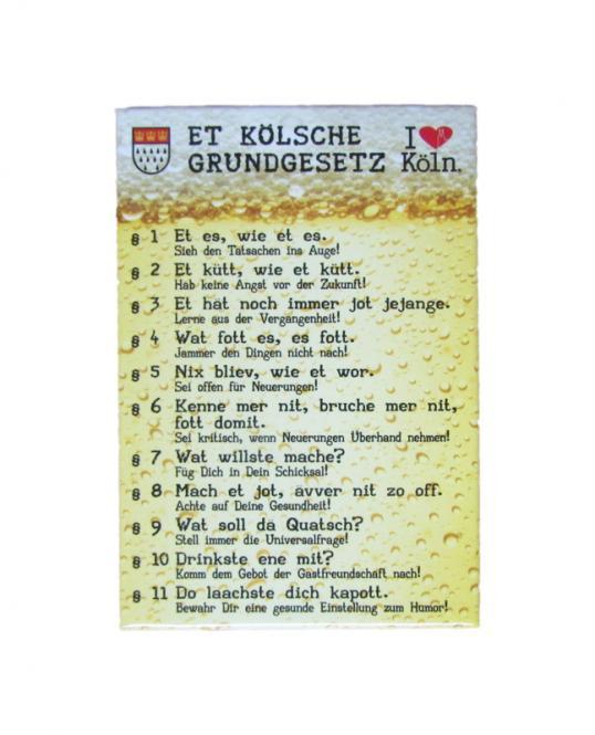 """Magnet """"Et kölsche Grundjesetz 2"""""""